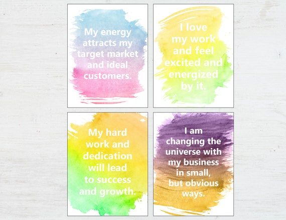 Affirmation cards positive affirmations words of affirmation cards positive affirmations words of encouragement positive quotes printable quotes entreprenuer gift supportive colourmoves Choice Image