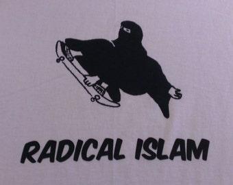 Long Sleeve Radical Islam Burka Skateboard Screen Print T-shirt in Mens or Womens Sizes S-3XL