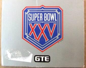 Vintage Super Bowl 25 Year History Silver Anniversary Theme Cards - Super Bowl 1, 1967 - Super Bowl 25, 1991