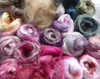 Hope Jacare - Hand dyed speciality fibre pack -  approx 90g mixed plant/speciality fibres - PLF69