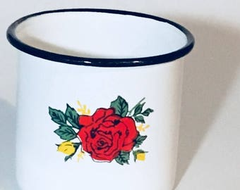 Enamelware coffee cup mug
