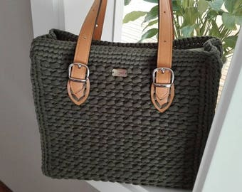 Hand made bag with webbing