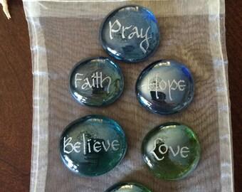 Prayer Stones - Colored Glass Stones