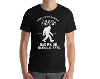 Bigfoot Shirt - Redwood National Park - Bigfoot - Bigfoot Tshirt - Bigfoot Gift - Yeti Shirt - Camping Shirt - Redwood - Forest Shirt