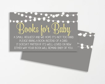 Books Instead of Cards | Build a Library Invite | Books for Baby | Printable Invitation Insert | INSTANT DOWNLOAD | Gender Neutral Shower