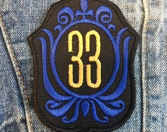 Disneyland Club 33 Vintage Embroidered Iron-on Patch