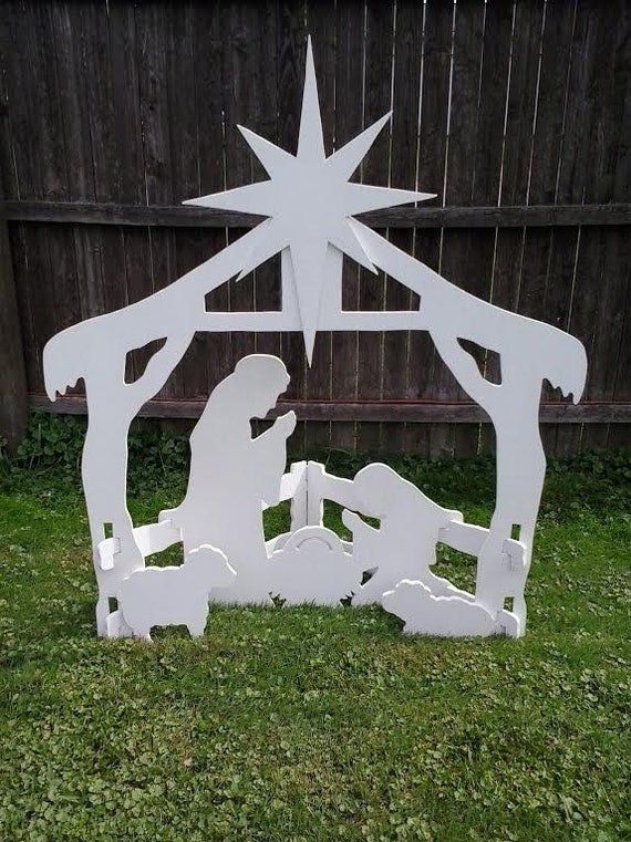Christmas outdoor nativity scene outdoor wood yard art lawn solutioingenieria