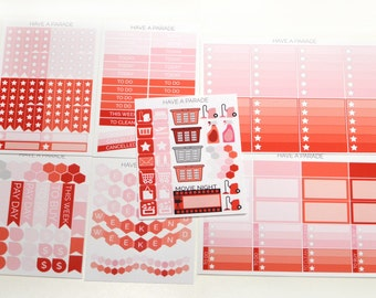 200+ Sticker Set in February Monthly Colors for your Erin Condren Life Planner