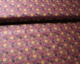 Thimbleberries  Quilt Fabric - Old World Comfort - Rust Red Vine Print - By the Yard