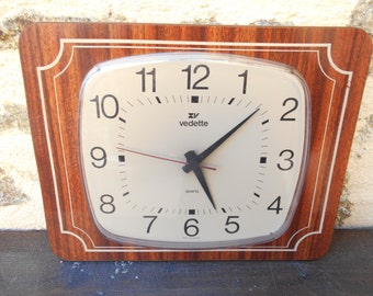 """Vintage French """"Vedette"""" Wall clock,"""