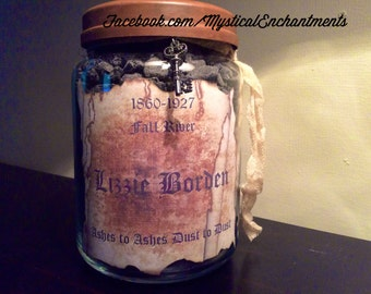 Lizzie Borden Ashes Apothecary Jar- Large 26 oz