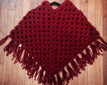 Custom child sized poncho  you choose color