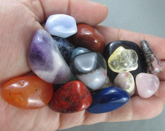You Choose 10 Polished Stones - Healing Crystals & Stones, Energy Healing, Polished Rocks, Happiness Stone, Protection Amulet, Raw Minerals