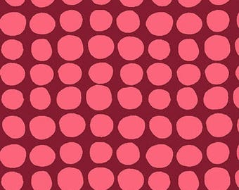 Amy Butler Love Sun Spots in Wine Red Fabric by the Yard - Amy Butler Sunspots - Free Spirit Fabric - Red and Pink - Summer OOP Amy Butler