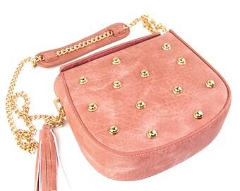 Blush Vegan Leather Handbag