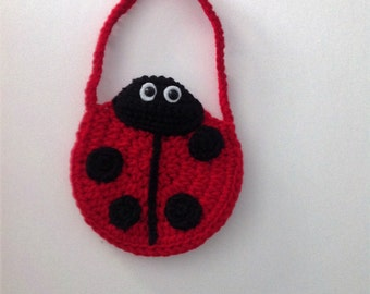 Child's Crocheted Ladybug Purse