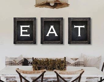 Attractive Farmhouse Decor. Eat Sign. Dining Room Wall Art. Farmhouse Sign. Kitchen  Wall