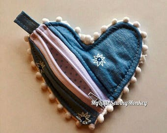 Venice Heart Shaped Coin Purse - PDF Sewing Pattern