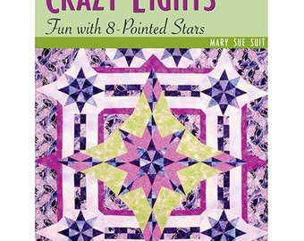 On Sale, Quilting Book, Quilt Pattern Book, Crazy Eights Fun, Out Of Print Book, Quilt Patterns, Quilting Supply, Pointed Stars, Soft Cover
