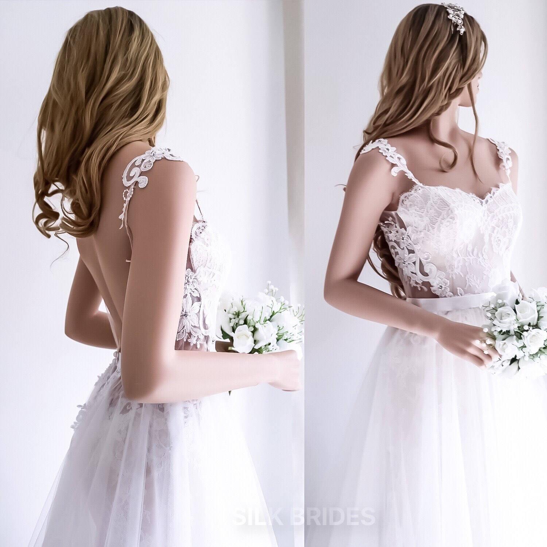Spitze Brautkleid / 2 in 1 Hochzeit Kleid / abnehmbare