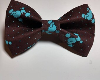 Poodle dog bow tie