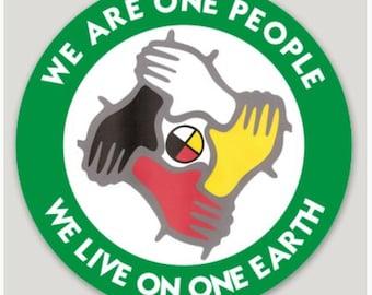 "3"" ONE PEOPLE Sticker"