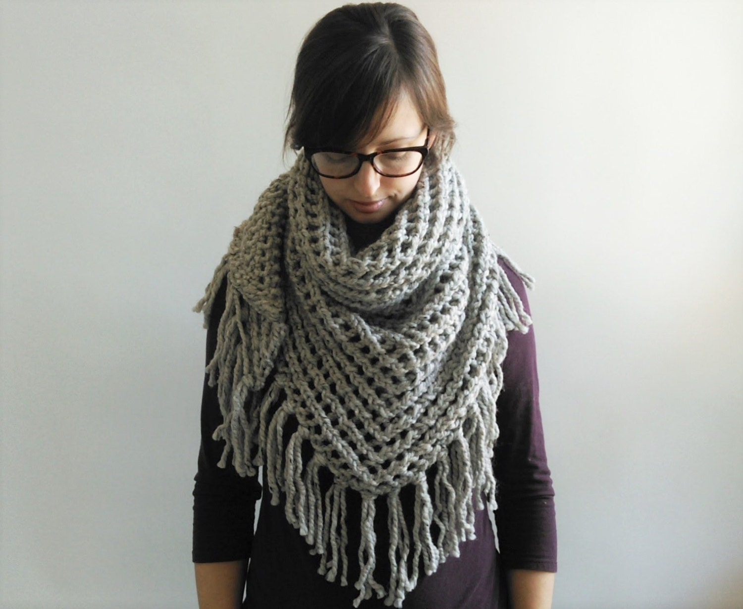 Enchanting Knit Scarf Pattern Lace Images - Blanket Knitting Pattern ...