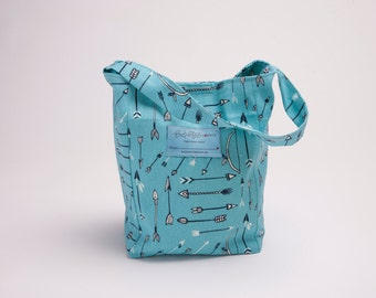 "Organic Cotton Lunch bag  ""Arrows"""