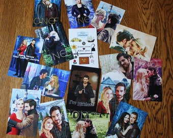 Once Upon a Time and Captain Swan Mini Glossy Photo Prints Lot 1