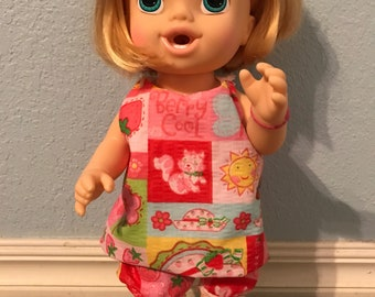 Berry cool sundress & bloomers for Baby Alive or Other 12 inch Doll