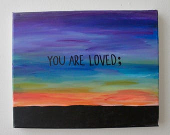 "Caring Canvas - ""You Are Loved"""