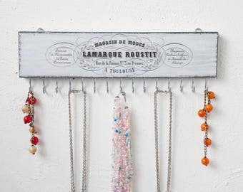 French Jewelry organizer Necklace organizer wall Jewelry storage Necklace holder Necklace storage French wall decor France home decor