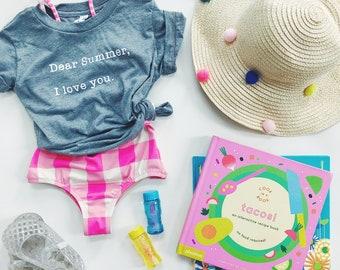 DEAR SUMMER - Gray Tri-blend T-Shirt- Baby and Toddler