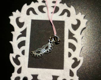 masquerade phone/zipper charm