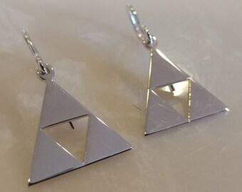 Triforce Shepherd's Hook Earrings