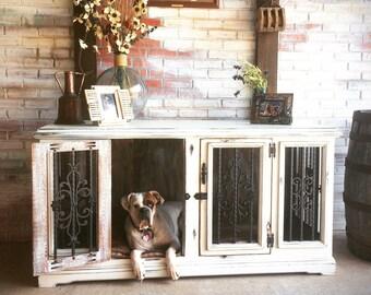 Medium Double Wood Dog Kennel