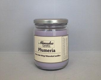 Plumeria Scented Soy Candle, 13oz, Mason Jar