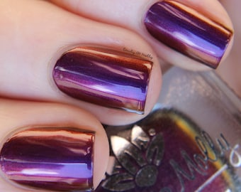 "Nail polish - ""Untapped Potential"" A  purple / red / orange / gold multichrome"