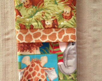 Jungle Animals - Travel/Toddler Pillowcase