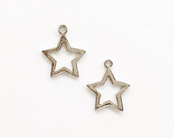 Star shaped pendant etsy silver open star pendant silver star pendant star pendant open star pendant mozeypictures Choice Image