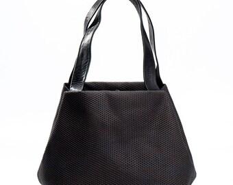 black canvas tote bag - black canvas bag - small canvas bag - small shoulder bag - black evening bag - evening purse - CFS2L