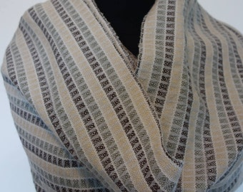 Wool stone stripe infinity scarf/wrap