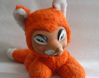 "Vintage plush toy ""Fox"" with rubber face - made in Germany"