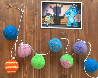 Monsters Inc Knitted Bunting