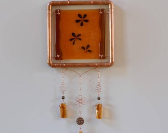 Falling Flowers - Fused Glass Wall Hanging