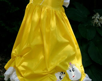 Girls Belle Dress Beauty and the Beast