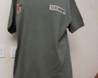 Cotton knit short sleeve t-shirt