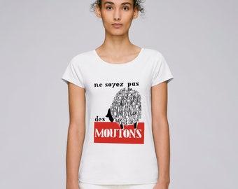 T-Shirt woman may 1968 - don't be sheep - limited edition - poster poster may 68