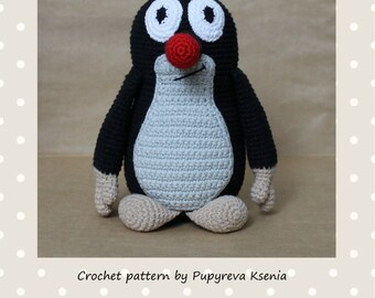 Mole amigurumi PATTERN mole crochet tutorial mole crochet pattern amigurumi little mole cartoon krtek