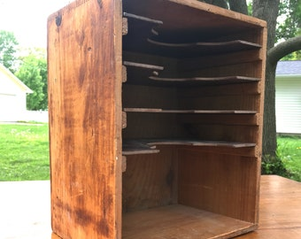 Old wooden File Cubby